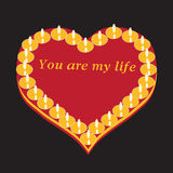 Heart full of love royalty free illustration