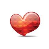 Heart full of pinstripes many hearts Royalty Free Stock Photography