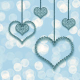 Heart garland Royalty Free Stock Photo