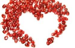 Heart of the garnet grains Stock Photos