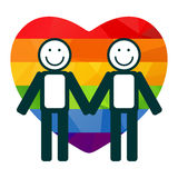 Heart and gay couple Royalty Free Stock Images