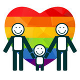 Heart and gay family Royalty Free Stock Image