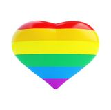Heart of the gay flag Royalty Free Stock Photography