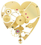 Heart gear Royalty Free Stock Images