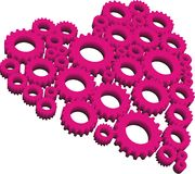 Heart-gear. Shape of a heart made of set of gears Royalty Free Stock Photo
