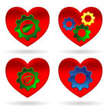 Heart gear green leaf Stock Photography