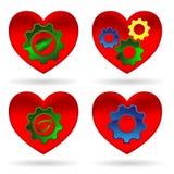 Heart gear green leaf Stock Photography