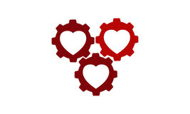 Heart Gear Stock Photography