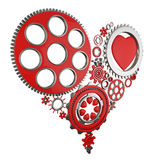 Heart and gears Royalty Free Stock Photography