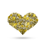 heart , gears arrangement shape of Human heart royalty free stock photography