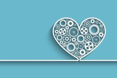Heart with gears Stock Image