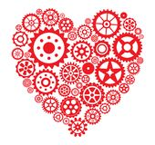 Heart from gears Royalty Free Stock Photos