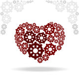 Heart of gears. Vector illustration of red heart of gears Stock Image