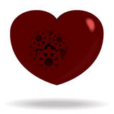 Heart of gears. Vector illustration of red heart of gears Stock Photo