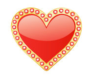 Heart With Gems Stock Photo