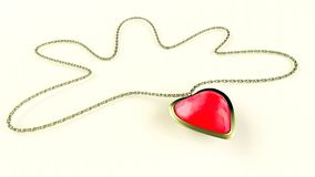 Heart gemstone necklace Stock Images