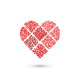 Heart geometric sign. Fashion graphic design.Vector illustration. Background design. Optical illusion 3D. Modern stylish abstract Royalty Free Stock Images