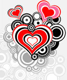 Heart - geometrical abstract background. Abstract love background preparation for the designer Royalty Free Stock Images