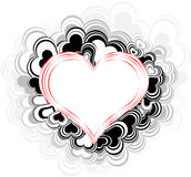 Heart - geometrical abstract background. Abstract love background preparation for the designer Royalty Free Stock Photo