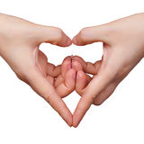 Heart gesture. The heart shape gesture with both hands Royalty Free Stock Photo