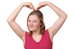 Heart gesture Royalty Free Stock Photography