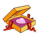 Heart gift. A present box with a metaphorical gift Royalty Free Stock Image