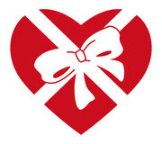Heart in gift Stock Image