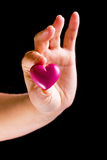 Heart gift Stock Photography