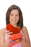 Heart gift Stock Photo