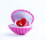 Heart gift Stock Images