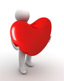 Heart in a gift. Royalty Free Stock Image