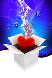 Heart gift box Stock Photos