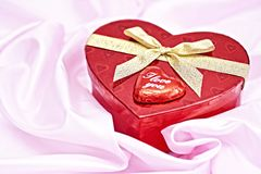Heart gift box. Stock Photo