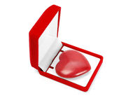Heart in a gift box Royalty Free Stock Photo
