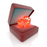 Heart in gift box Royalty Free Stock Image