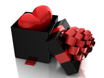Heart in gift box Royalty Free Stock Images