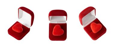 Heart in a gift box Stock Photography