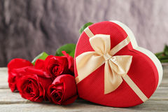 Free Heart Gift Box Royalty Free Stock Images - 50833869