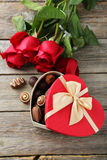 Heart gift box Stock Images