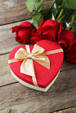 Heart gift box Royalty Free Stock Image