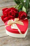 Heart gift box Royalty Free Stock Photos