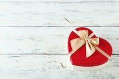 Heart gift box Stock Photography