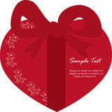 A heart gift box card Stock Images