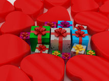 Heart and Gift Box Royalty Free Stock Photos