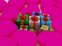 Heart and Gift Box Stock Image