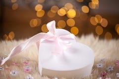 Heart gift box Stock Photos