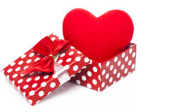 Heart in gift box Royalty Free Stock Photos
