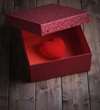 Heart in a gift box Royalty Free Stock Photos