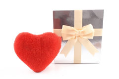 Heart and gift box Royalty Free Stock Photo