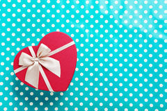 Heart gift box Stock Image